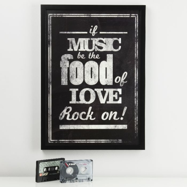 If Music Be The Food Of Love...Print