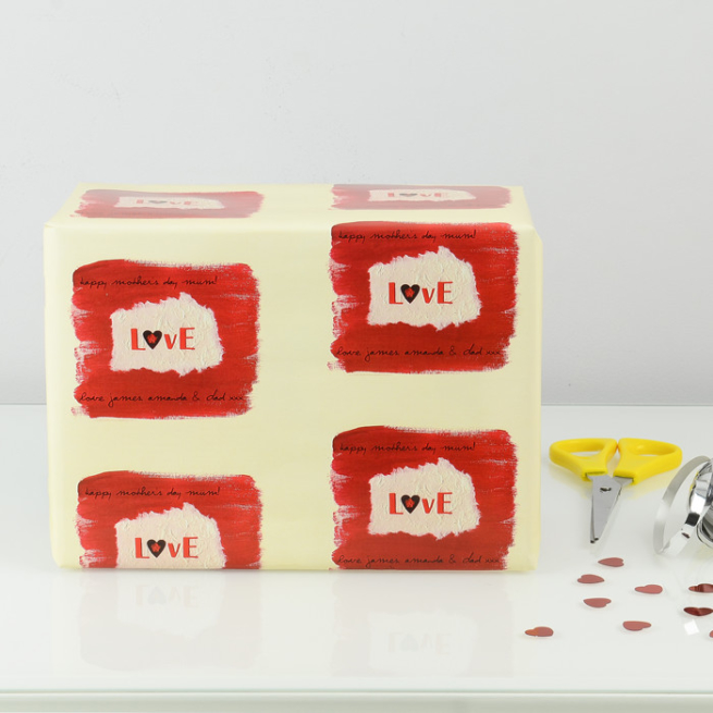 Personalised Love Wrapping Paper