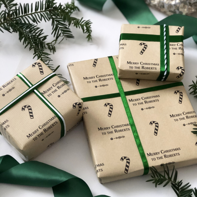 Personalised Christmas Spotify Playlist Wrapping Paper